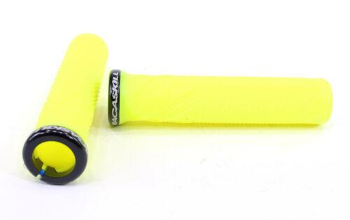Lizard Skins Danny MacAskill Lock On Mountain Bike Grips Neon Yellow