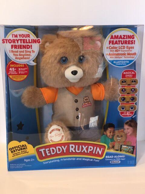 NEW Teddy Ruxpin Bear 2017 Doll Plush Talking Bear Storytelling Bluetooth Reads