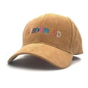 8567b0c12 Details about Astroworld Hat Embroidery Corduroy Unisex Travis Scott Latest  Album Baseball Cap
