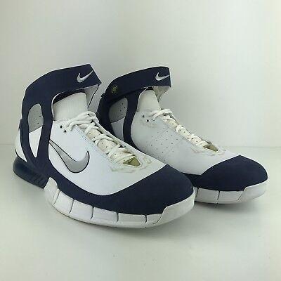 huge discount 19a5e 60eff VTG Nike Air Zoom Kobe Bryant Huarache 2K5 NBA All Star Blue White 310850  Sz 18   eBay