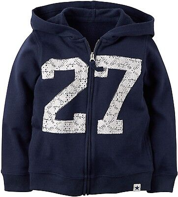 Carter/'s hoodie toddler girls 2t 3t 4t  navy blue 27 lace