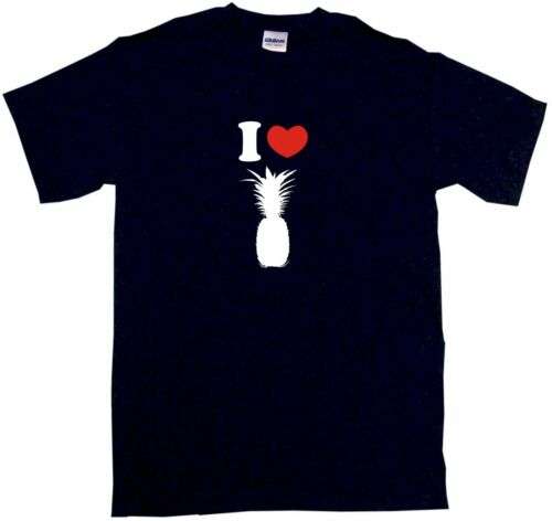 I Heart Love Pineapple Silhouette Mens Tee Shirt Pick Size Color Small-6XL