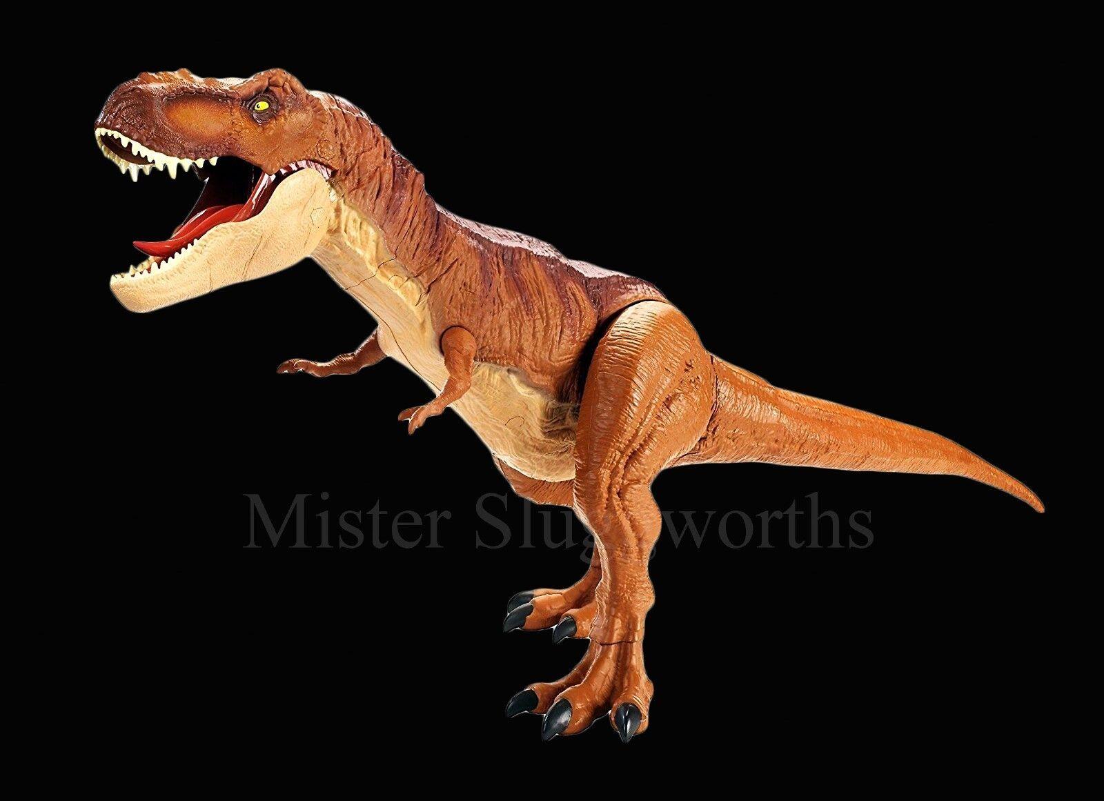 NEW Jurassic World Fallen Kingdom Battle Damage Super Colossal Tyrannosaurus Rex