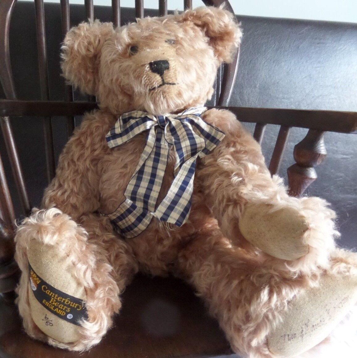 JOHN schwarzBURN CANTERBURY BEARS MOHAIR BEAR LTD ED 6 0F 50