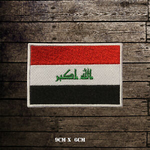 IRAQ Flag Embroidered Iron On Sew On Patch Badge For Clothes Etc
