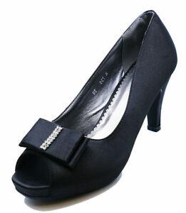 LADIES-SLIP-ON-BLACK-SATIN-PEEP-TOE-ELEGANT-EVENING-PROM-COURT-SHOES-SIZES-3-8