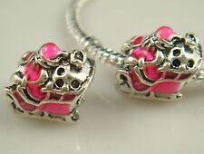 European Silver CZ Charm Beads Fit sterling 925 Necklace Bracelet diy Chain a3s