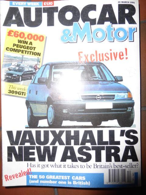 AUTOCAR 91/03/20  RENAULT CLIO HONDA CIVIC