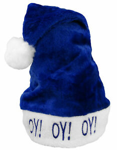 Adult-Chanukah-Oy-Holiday-Blue-and-White-Hanukkah-Soft-Fuzzy-Hat-with-Puff-Ball