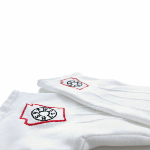 Masonic Freemasons Mark Degree White 100/% Cotton lodge Gloves