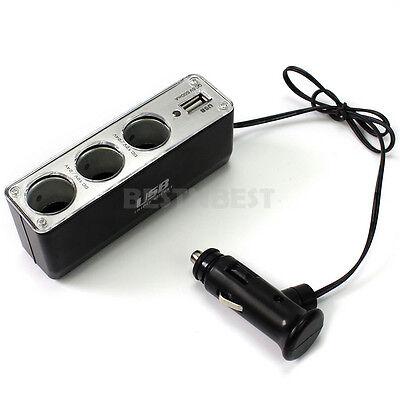 Auto Car Cigarette Lighter 3 Way Convertor Splitter Adapter Outlet 12V 24V DC