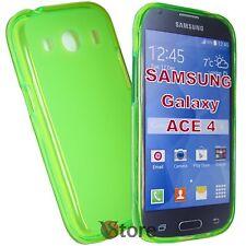 Cover Custodia Per SAMSUNG Galaxy ACE 4 G357 VERDE Silicone Gel TPU + Pellicola