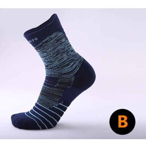 Pro Men Women Compression Basketball Ankle Socks Stripe Running Gym Sports Socks