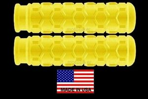"""MINI-BIKE RUPP MOTORCYCLE 7/8"""" FOOT PEG COVERS YELLOW HEX STYLE 4 1/2"""" DEPTH USA"""