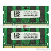 New 4GB 2x2GB PC2-5300 DDR2-667Mhz DDR2 200pin Sodimm Laptop Memory KIT RAM