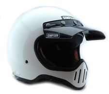 SIMPSON M50 MOTORCYCLE HELMET DOT APPROVED GLOSS WHITE M MEDIUM 58cm 71/4