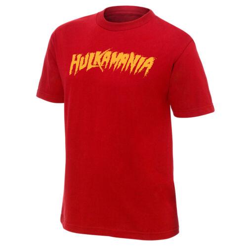 "Hulk Hogan /""Hulkamania/"" Red Authentic T-Shirt Official WWE"