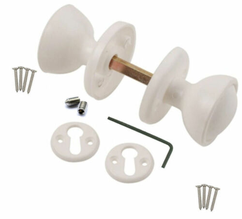 Blanc jante en plastique//à mortaise poignées de porte utiliser avec jante serrure porte hangars gates portes
