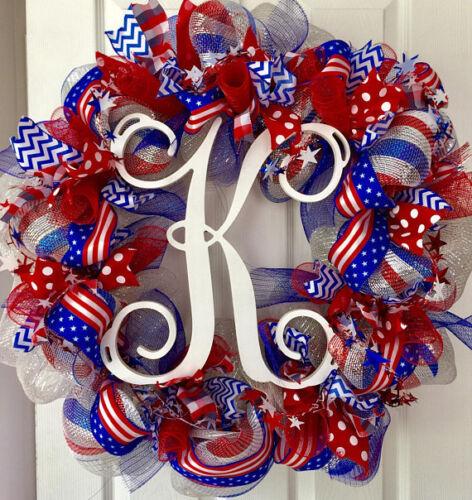 American Flag Decor Patriotic 4th of July Wreath Garland Swag Bunting