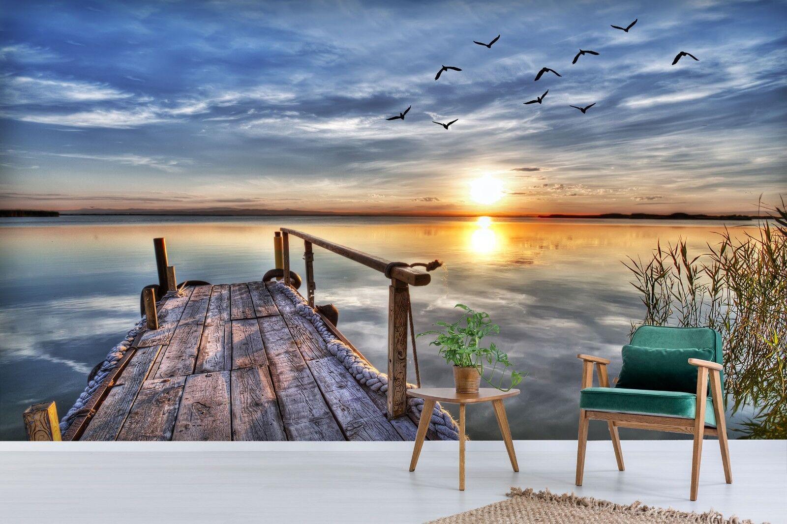 3D Seen Vögel 7115 Tapete Wandgemälde Tapete Tapeten Bild Familie DE Sidney | Heißer Verkauf  | Shop  | Primäre Qualität