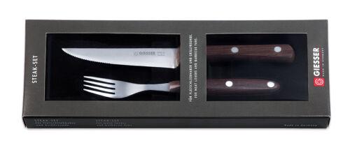Bilité Couteau steak couverts Cutlery 2er set Clout palisander poignées 9750 2