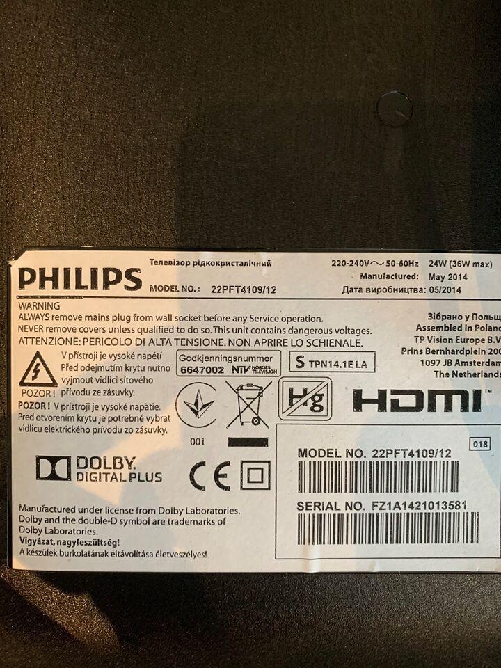 LED, Philips, 22PFT4109/12