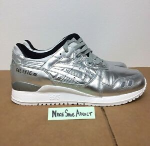 9bf89ea42988a Asics Gel Lyte III 3 Metallic Silver White Black HL504-9393 Liquid ...