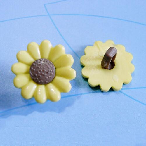 20 Fleur Daisy Craft Kid Girl Sweater À faire soi-même Sac fantaisie à coudre boutons jaune D45