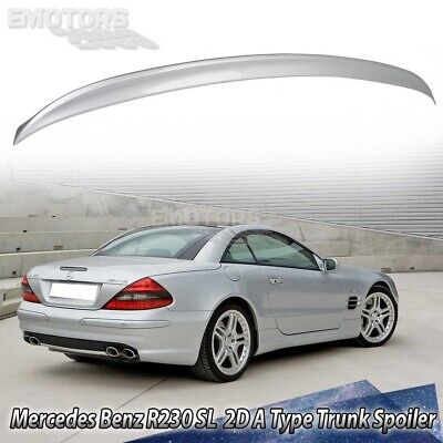 Paint #744 755 For MERCEDES BENZ R230 SL Convertible A Style Trunk Boot Spoiler