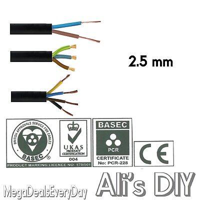 30 Metre Custom Cut Length 2.5 mm 3 Core Hi Tuff PVC Cable