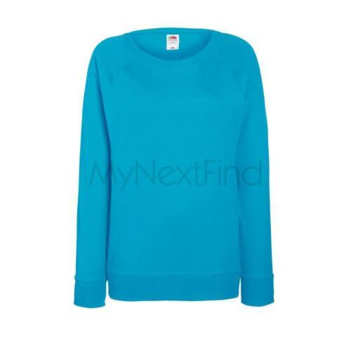 Fruit of the Loom Womens Lady-Fit Lightweight Raglan Sweatshirt