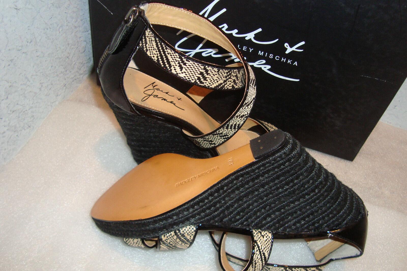 Mark & James BY Badgley Nat Mischka Damenschuhe Reza II Nat Badgley Blk Wedge Schuhes 8.5 M NEW ed9fda