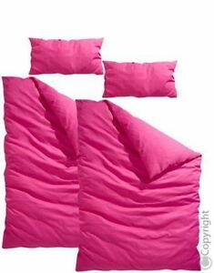 My Home Robin Bettwäsche 4tlg 135x200 Linon Farbe Pink Neu