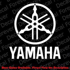 Image is loading LARGE-YAMAHA-TUNING-FORK-Logo-Motor-Cycle-Car-