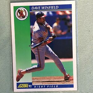 Details about Dave WINFIELD, Angels, SCORE Trading Card #32, 1992- FREE  Shipping USA