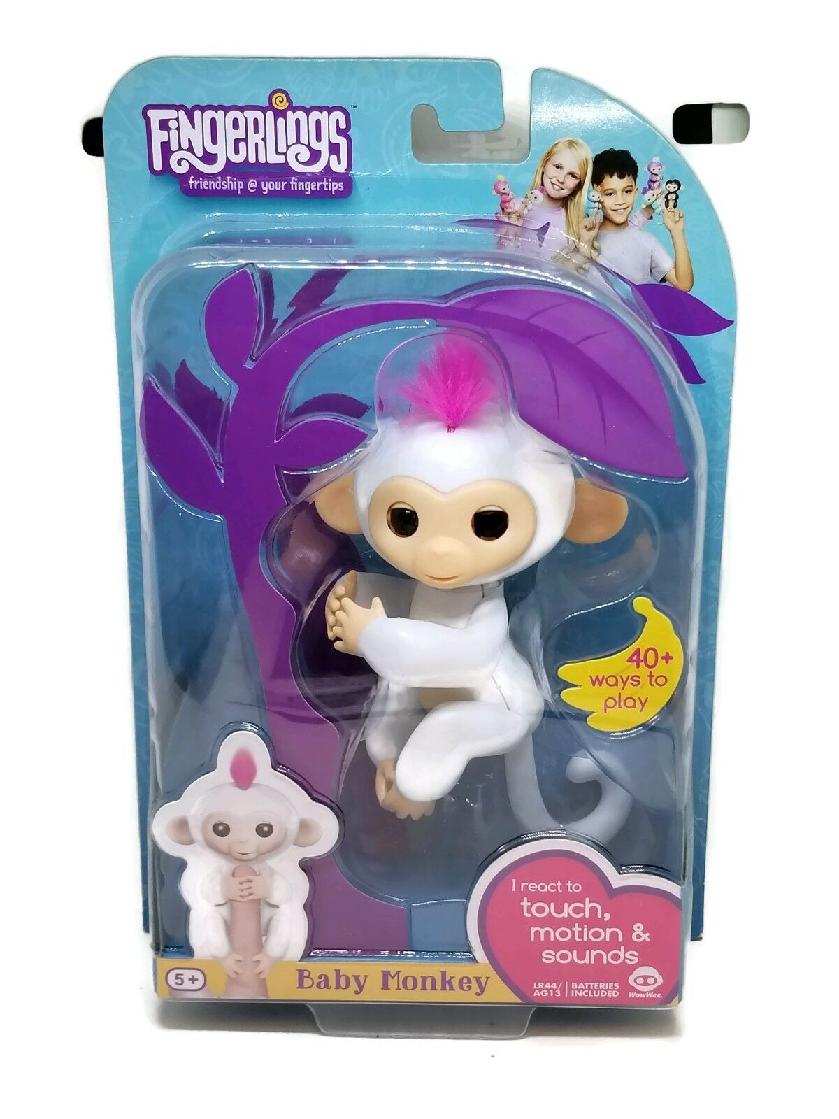 WowWee ‑ Fingerlings Baby Monkeys Sophie, White Free Shipping