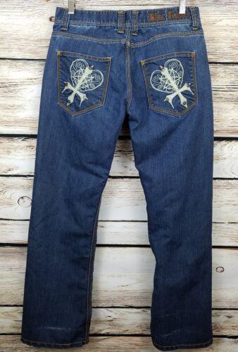 Clous Jeans Taille Blac Premium Wash Distressed Jeans Goods Denim 34 Label Dark qwxa1