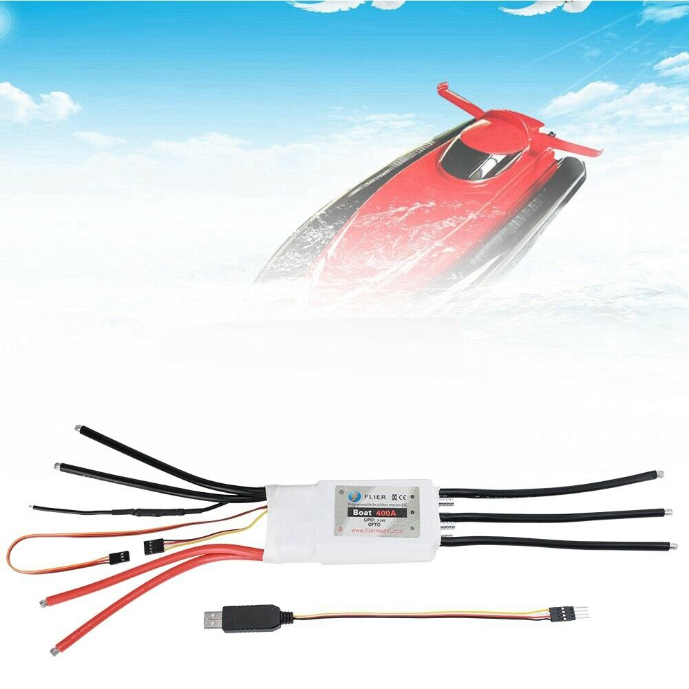 400A Two-way Water Cooling ESC Programming for RC Boat Brushless Motor 8-70V Kit