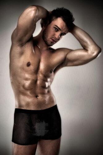 boxer résille noir transparent pour homme taille S//M  L//XL  2XL//3XL 705104
