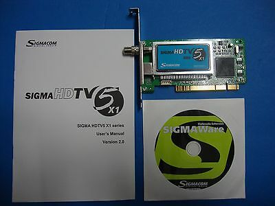 Sigmacom Sigma HDTV5 X1 PCI TV Tuner Card X1-880D0606E Tested