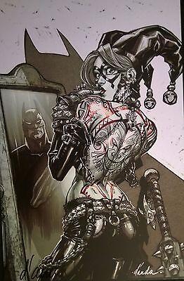 CARLOS D'ANDA HARLEY QUINN TATTOO SIGNED ART PRINT 11x17