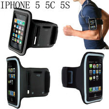 Black Gym Outdoor Sport Running Arm band Case For Apple iPhone 5C 5S 16GB 32GB