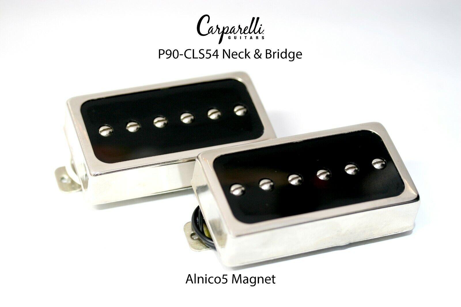 Carparelli CLS54 P90 Nickel Silber Pickup SET Nickel Silber Neck & Bridge