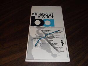 September 1974 Bart System Metro San Francisco Map Transportation