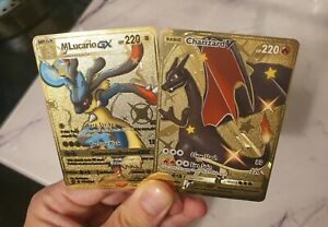 Gold-Mega-Lucario-GX-amp-Shiny-Charizard-V-Pokemon-Card-SV-Hidden-Fates