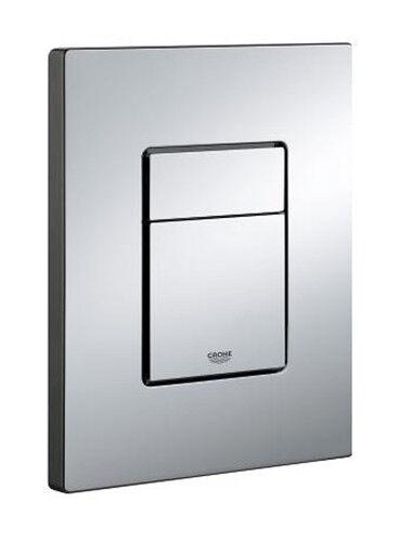 Ersatz Platte Chrom für Kassette Dual Flush und StKunst & Stop 38732000 Chrom