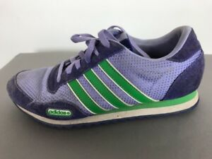 b37a8c8323f3 Image is loading Adidas-Purple-Three-Stripe-Walking-Tennis-Shoe-Casual-