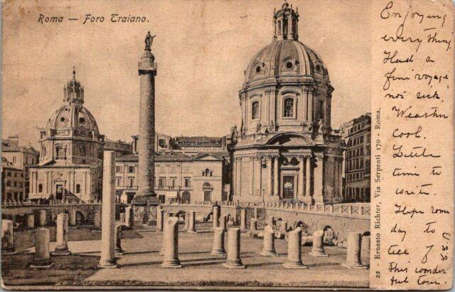 Vintage Postcard Italy 1900 ROMA ROME FORO TRAIANO LAZIO ...