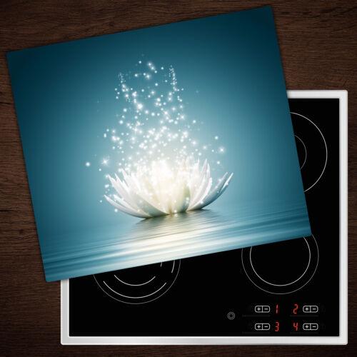 FORNELLO lastre di copertura in vetro PARASPRUZZI magico fiore di loto 60x52 cm