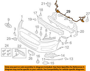 ford oem 13 16 fusion front bumper grille grill wire harness rh ebay com